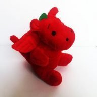 Welsh dragon cuddly toy. Welsh toys