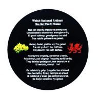 welsh slate national anthem coaster. welsh slate gifts
