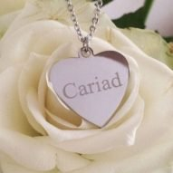 Cariad necklace. Welsh jewellery