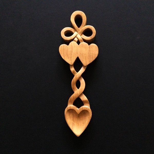 Bow And Hearts Welsh Love Spoon Welsh Gifts With Heart