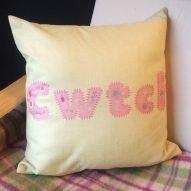 Cwtch cushion. Welsh cushions