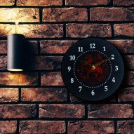 welsh dragon slate wall clock