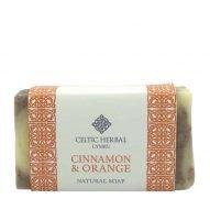Cinnamon and orange soap. Handmade in Wales by Celtic Herbal.
