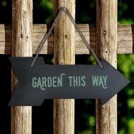 Garden slate plaque