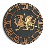 slate dragon wall clock