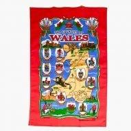 Welsh counties tea towel