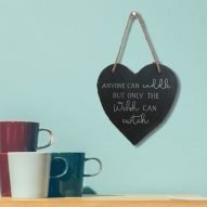 welsh slate heart plaque Only the Welsh can cwtch
