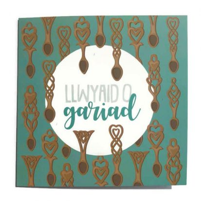 welsh love spoons greeting card
