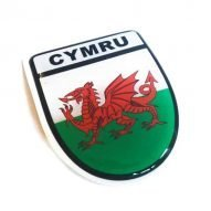 welsh flag car sticker