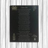 Calon Lan slate plaque