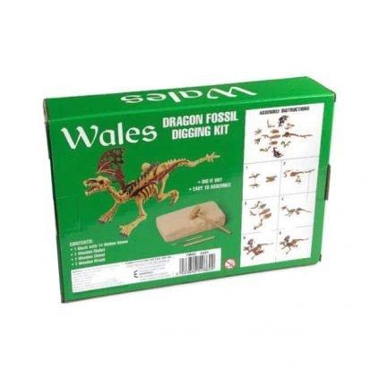 welsh dragon fossil digging kit for children