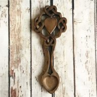 Celtic heart love spoon