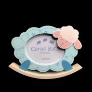 welsh baby photo frame in blue