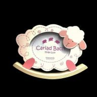 welsh baby photo frame pink