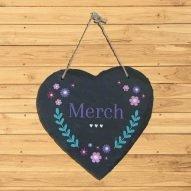 merch/daughter slate plaque Wales
