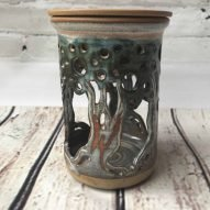 oil burner handmade welsh pottery