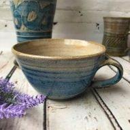 welsh cappucino mug handmade pottery