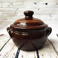 Casserole dish Welsh pottery
