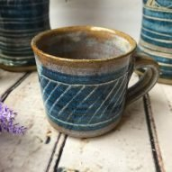 espresso cup Welsh pottery