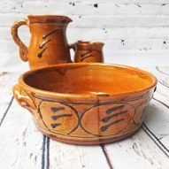 welsh pottery earthenware flat bowl