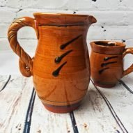 medium jug Welsh earthenware pottery