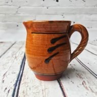earthenware Welsh pottery milk jug