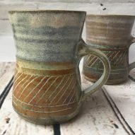 Weksh pottery mug handmade in Wales stoneware