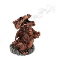 welsh dragon incense burner red
