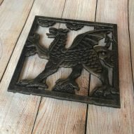 cast iron welsh dragon teapot stand trivet