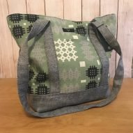 Green Welsh tapestry shoulder bag