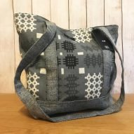 grey Welsh tapestry shoulder bag