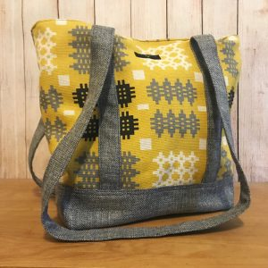 mustard yellow Welsh tapestry bag