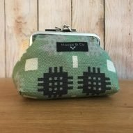 green Welsh tapestry purse