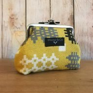 mustard yellow Welsh tapestry purse