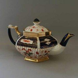 gaudy welsh pottery teapot