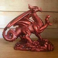 welsh dragon ornament lustre