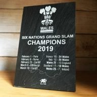 welsh rugby slate plaque 6 nations 2019 Grand slam