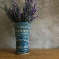 welsh stoneware blue vase