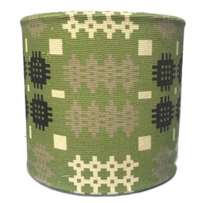 Welsh tapestry green lamp shade